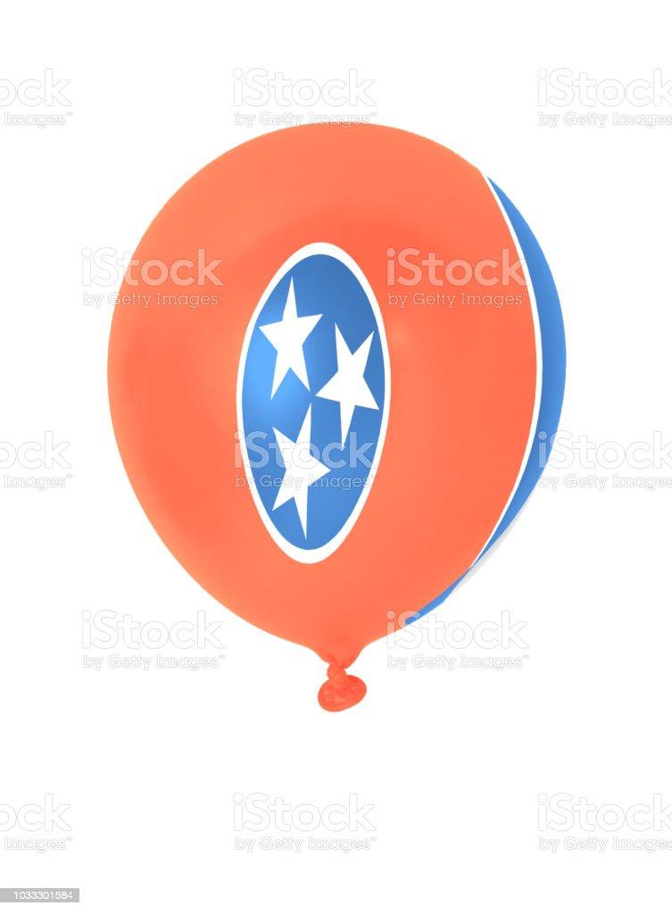 Balão inflável com bandeira do estado de Tennessee - foto de acervo