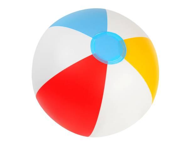 Inflatable beach ball stock photo