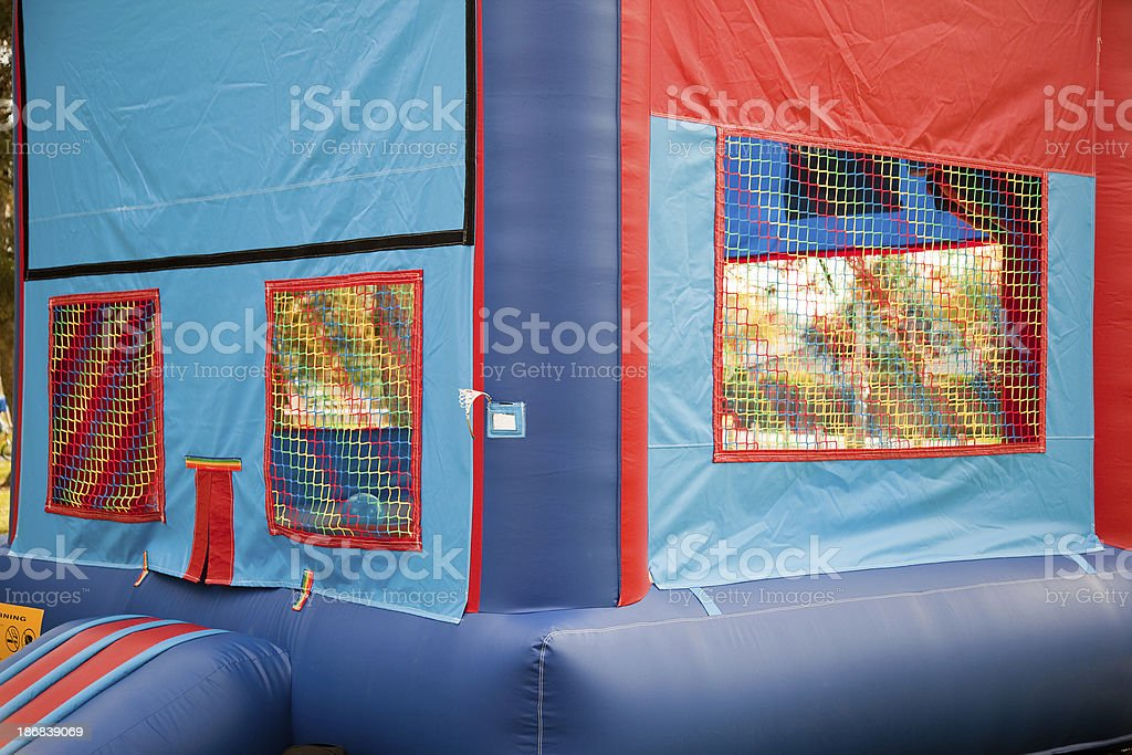Inflatable Bouncing Playground Outdoors royalty-free stock photo