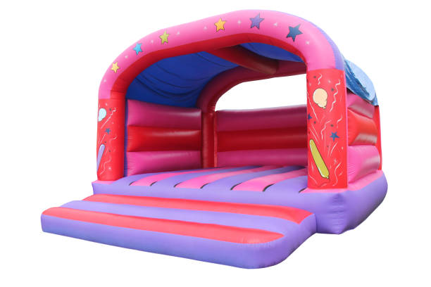 Inflatable Bouncy Castle. stock photo