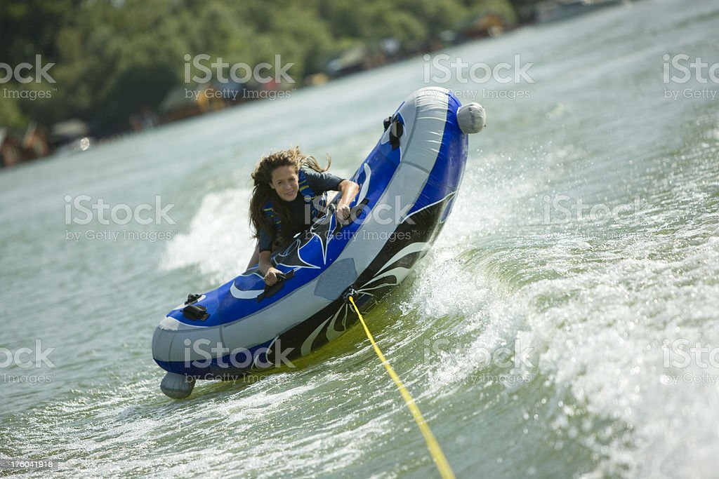 Inflatable dinghy royalty-free stock photo