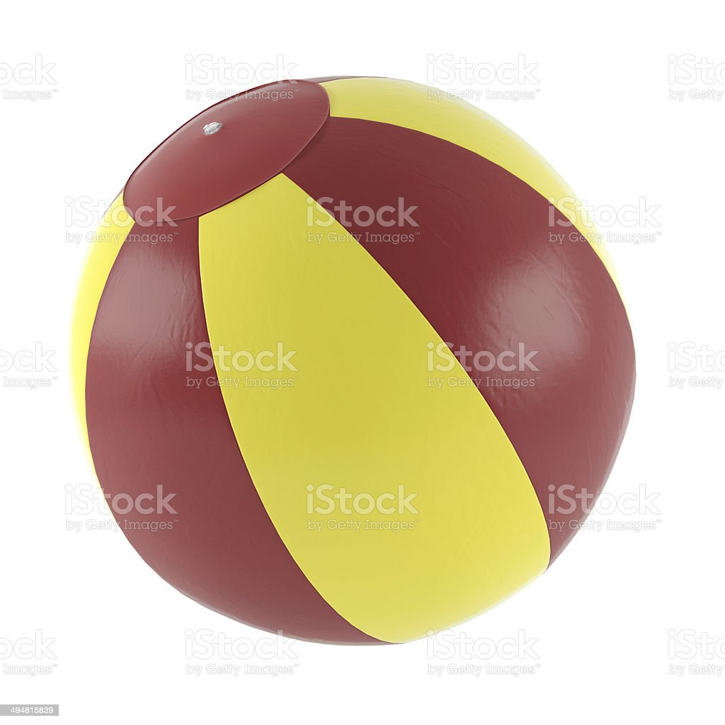 Inflatable fitness ball isolated stock photo
