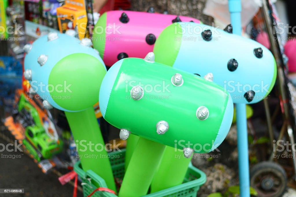 Aufblasbarer hammer Spielzeug Lizenzfreies stock-foto