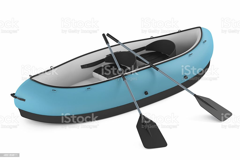 Inflatable kayak canoe isolated royalty-free stock photo