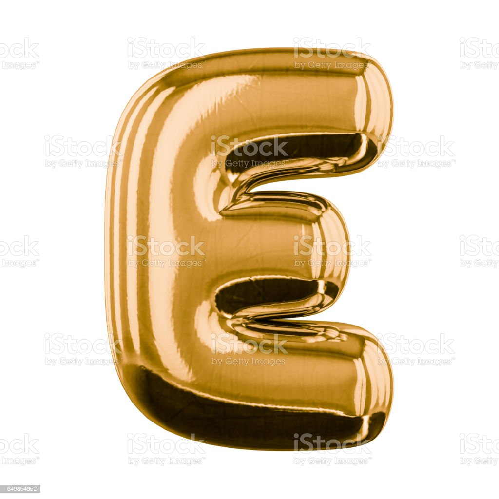 Inflatable letters of the alphabet. 3D rendering stock photo