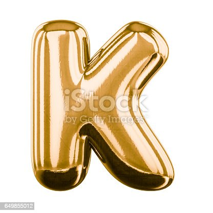 istock Inflatable letters of the alphabet. 3D rendering 649855012