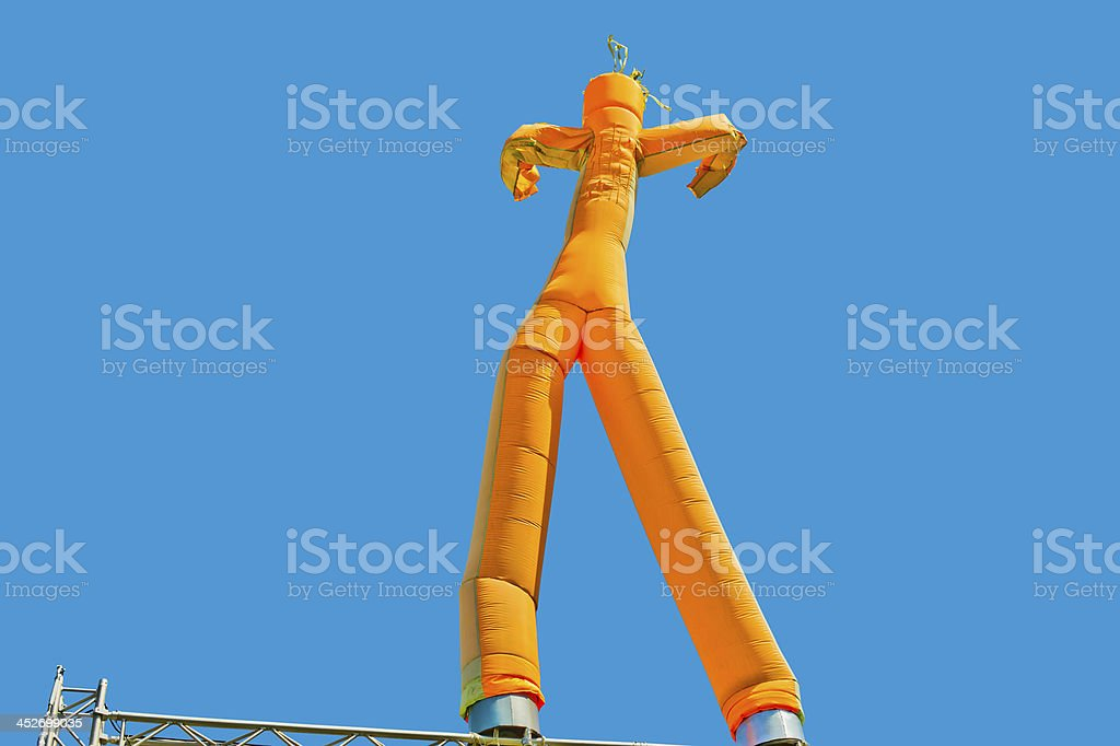 Inflatable man stock photo