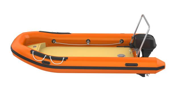 uppblåsbara motorbåt isolerade - livbåt bildbanksfoton och bilder