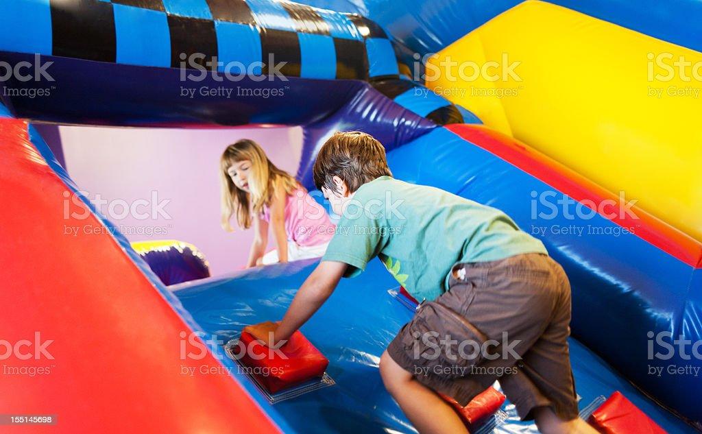 Inflatable Playground Fun stock photo