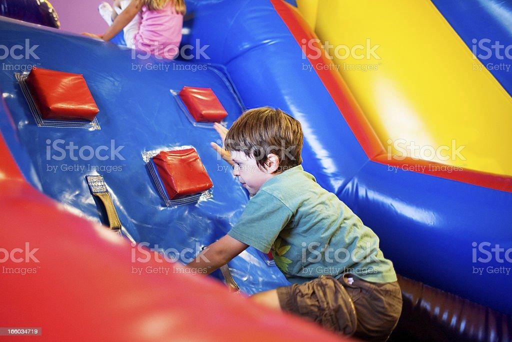 Inflatable Playground stock photo