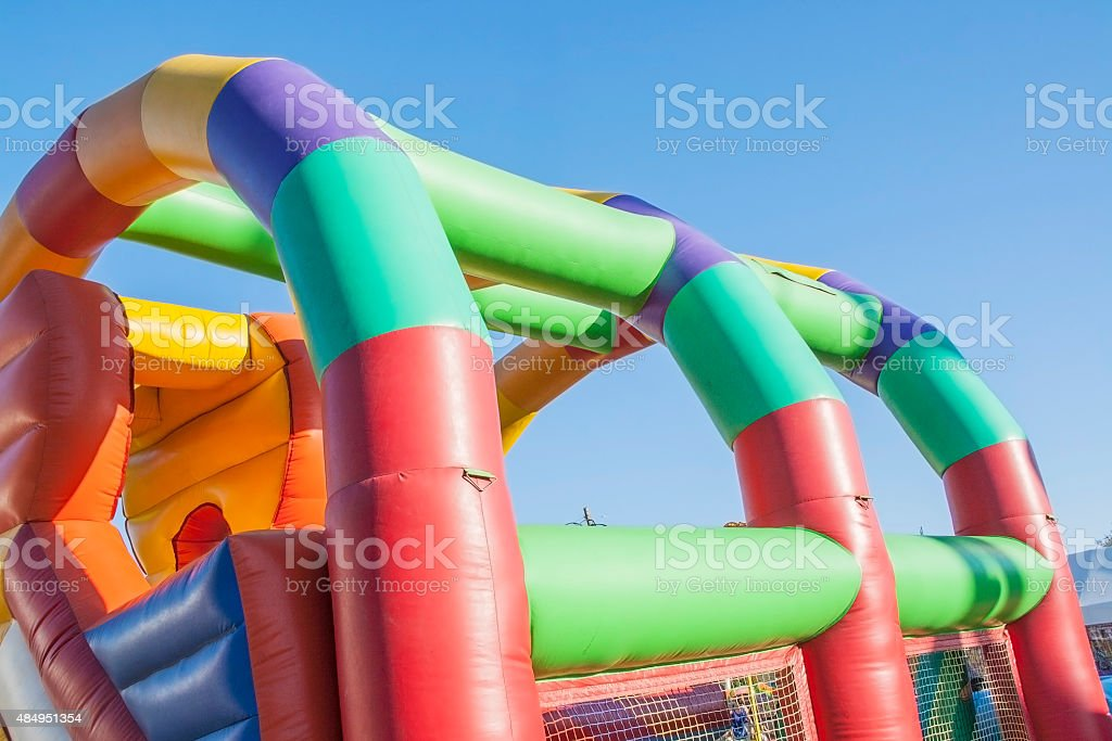 Inflatable playground royalty-free stock photo