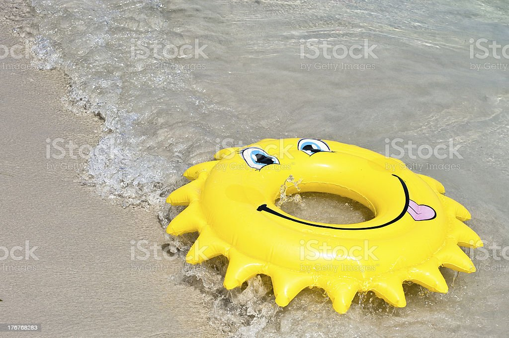 Inflatable ring royalty-free stock photo