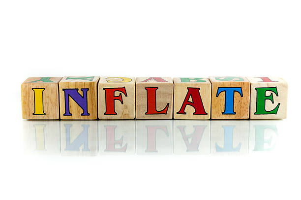 inflate inflate  colorful wooden word block on the white background aggrandize stock pictures, royalty-free photos & images