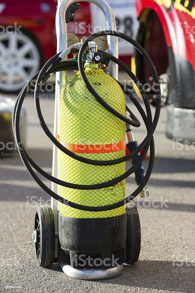 Inflated air cylinder royalty-free stock photo