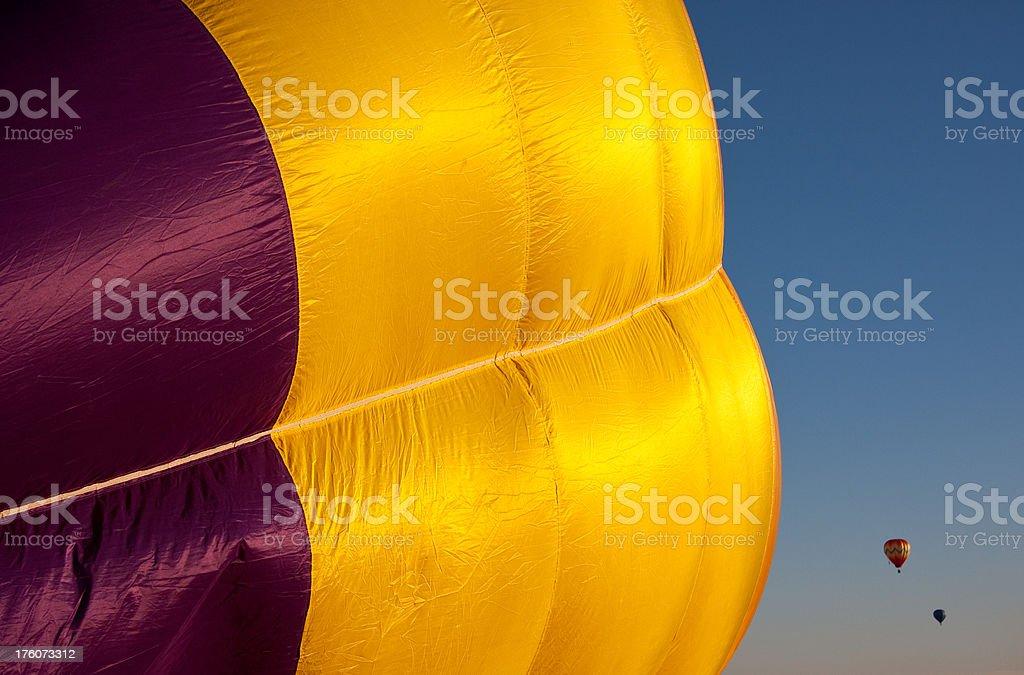 Inflating Balloon Plus 2 royalty-free stock photo