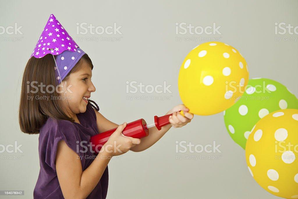 Inflating balloons royalty-free stock photo