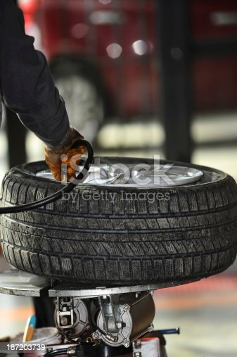 898487280 istock photo Inflating car tires 187203739