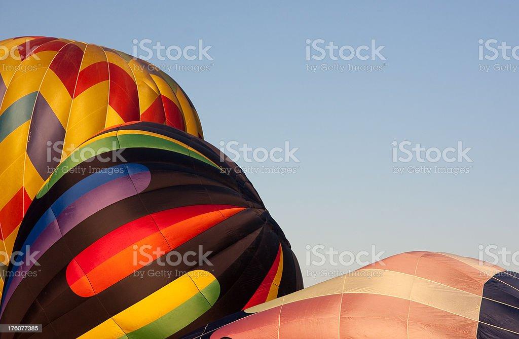 Inflating Hot Air Balloons royalty-free stock photo