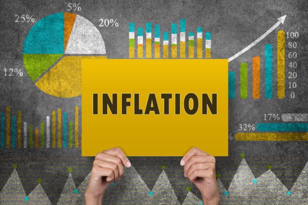 inflation unterzeichnen vor finanzbericht - inflation stock-fotos und bilder