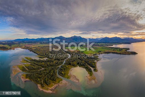 istock Inflow to lake chiemsee, Tiroler Ache 1182275010