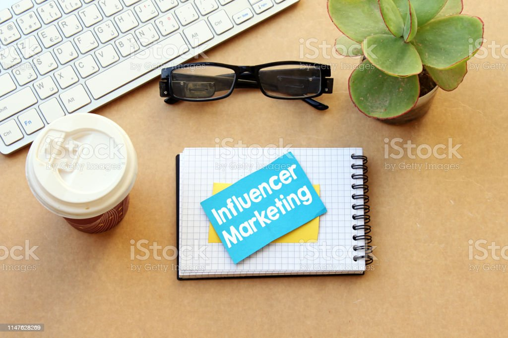 Influencer marketing. Concept, business influence online on social...