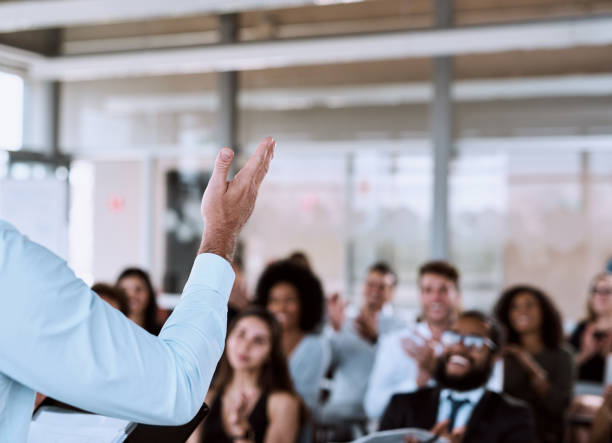 Influential and informative. What you want from a great presenter stock photo