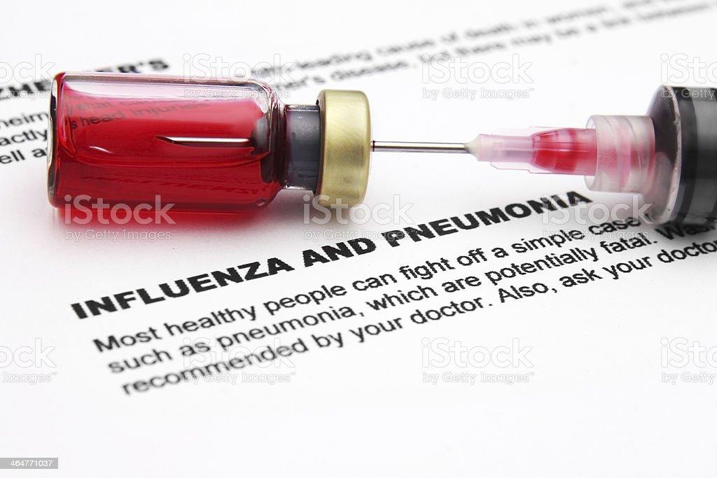 Influenza and pnemonia royalty-free stock photo
