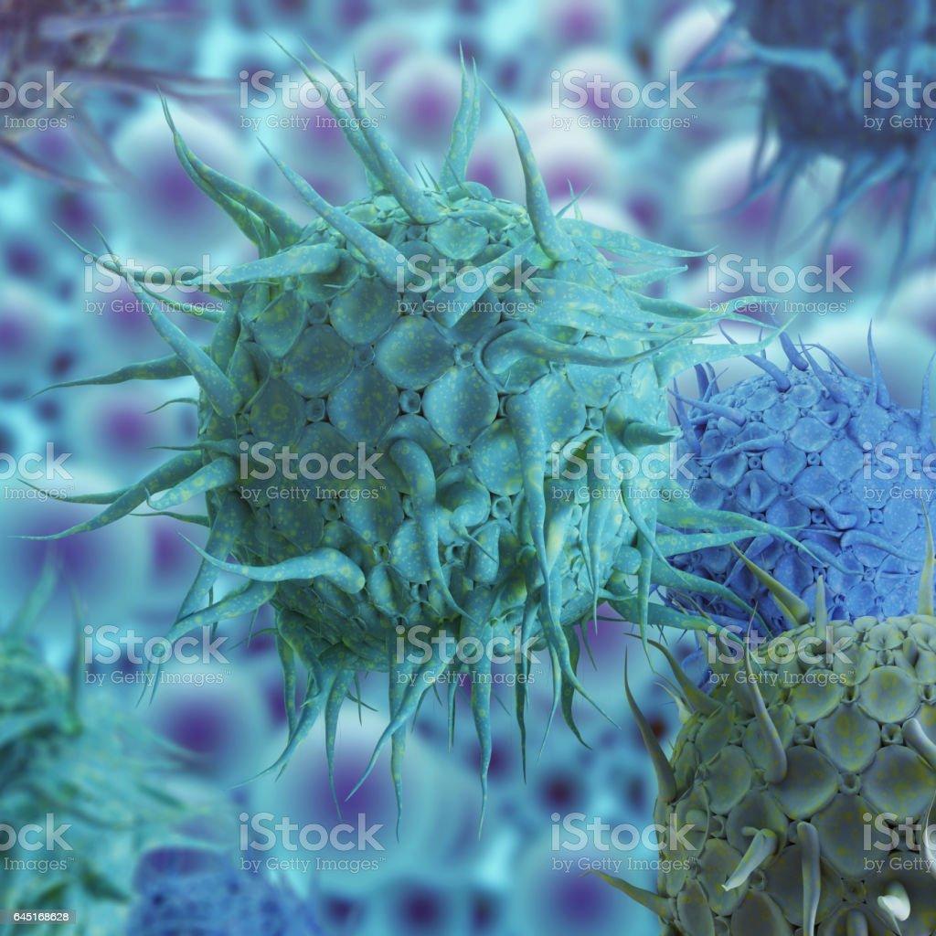 Influenza Virus H1N1 stock photo