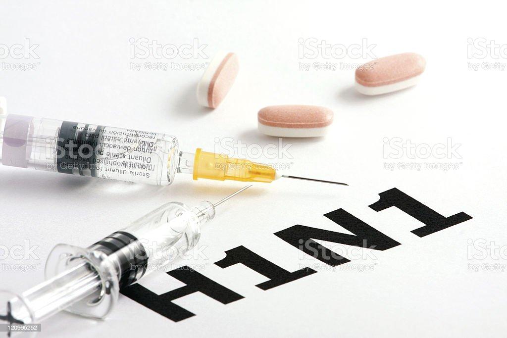 H1N1 Influenza Virus stock photo