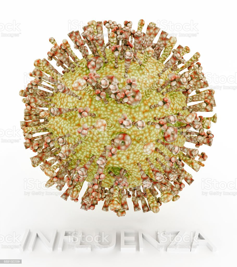Influenza Virus With Text stock photo