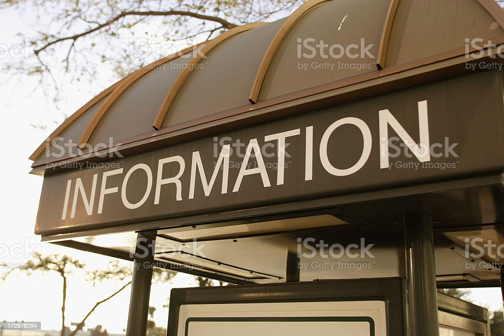 Info Booth royalty-free stock photo