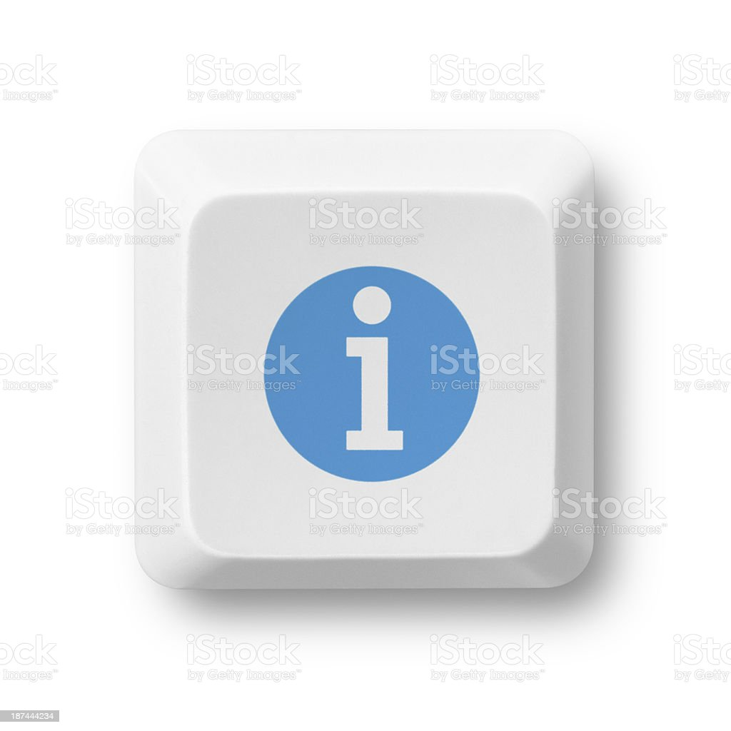 Info Computer Key stock photo