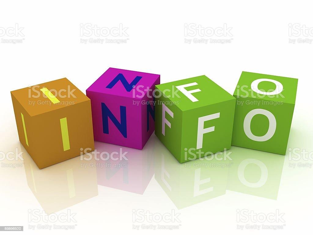 Info Kreuzworträtsel Lizenzfreies stock-foto