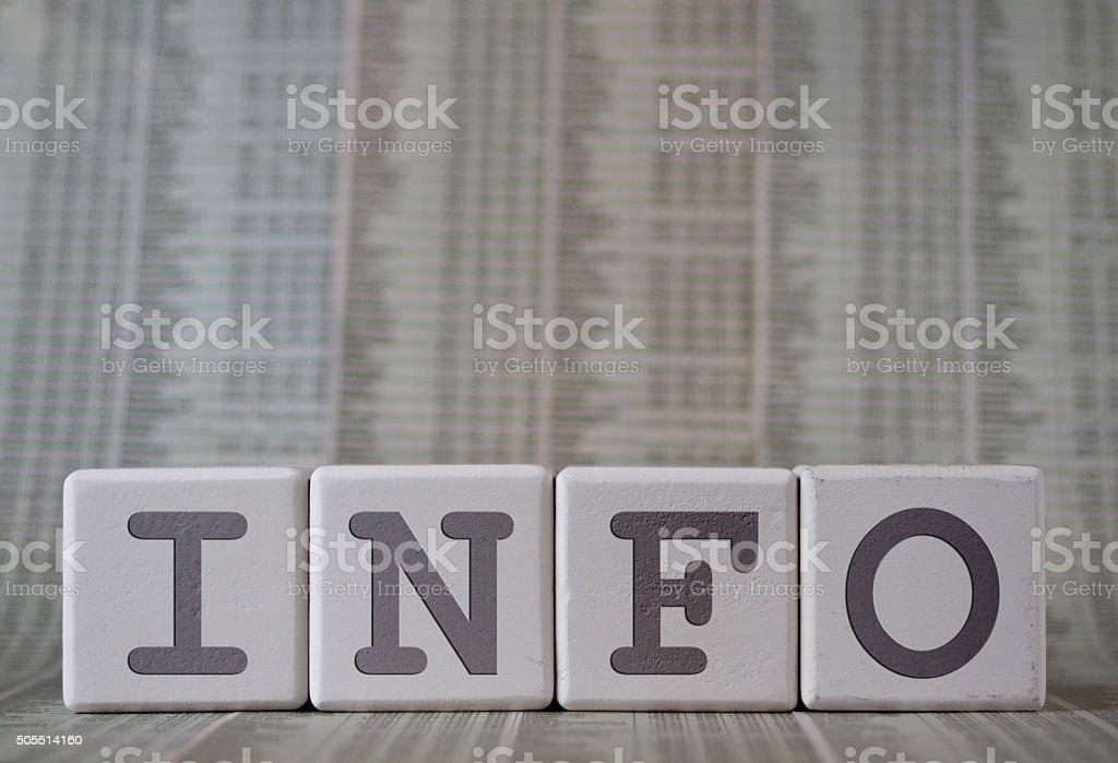 Info stock photo
