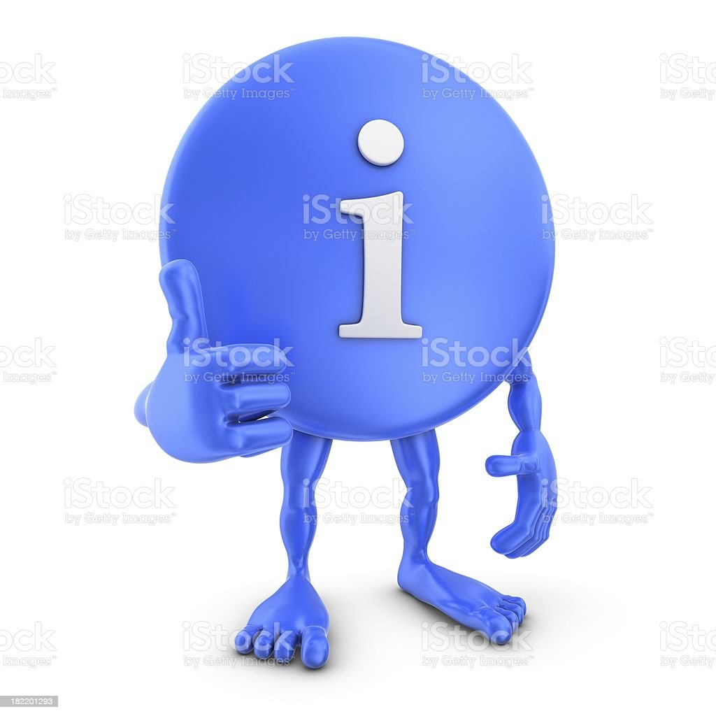 info sign man thumb up royalty-free stock photo