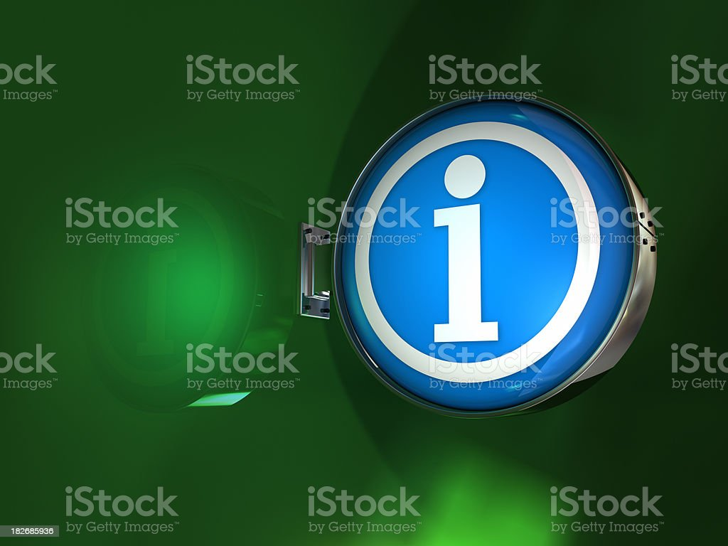 Info sign stock photo