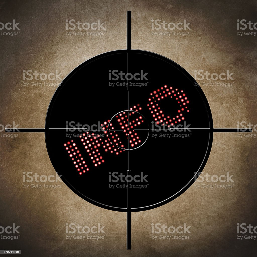 Info target concept royalty-free stock photo