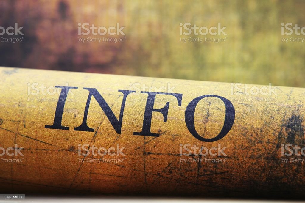 Info text on grunge background stock photo