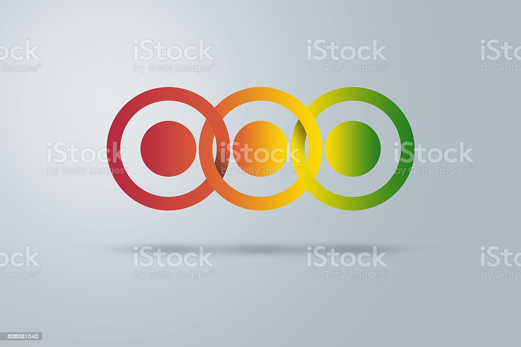 infographic abstract circles stock photo