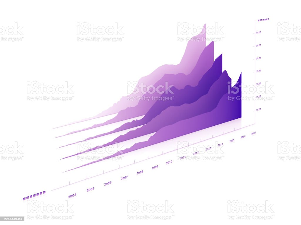Infographic Growing bar chart stock photo
