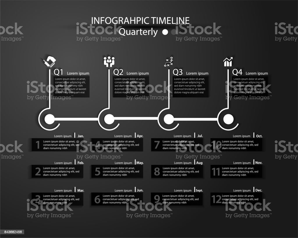 Infographic Timeline for multiple purpose of use. stock photo