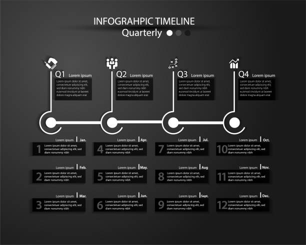 infographic timeline for multiple purpose of use. - timeline стоковые фото и изображения