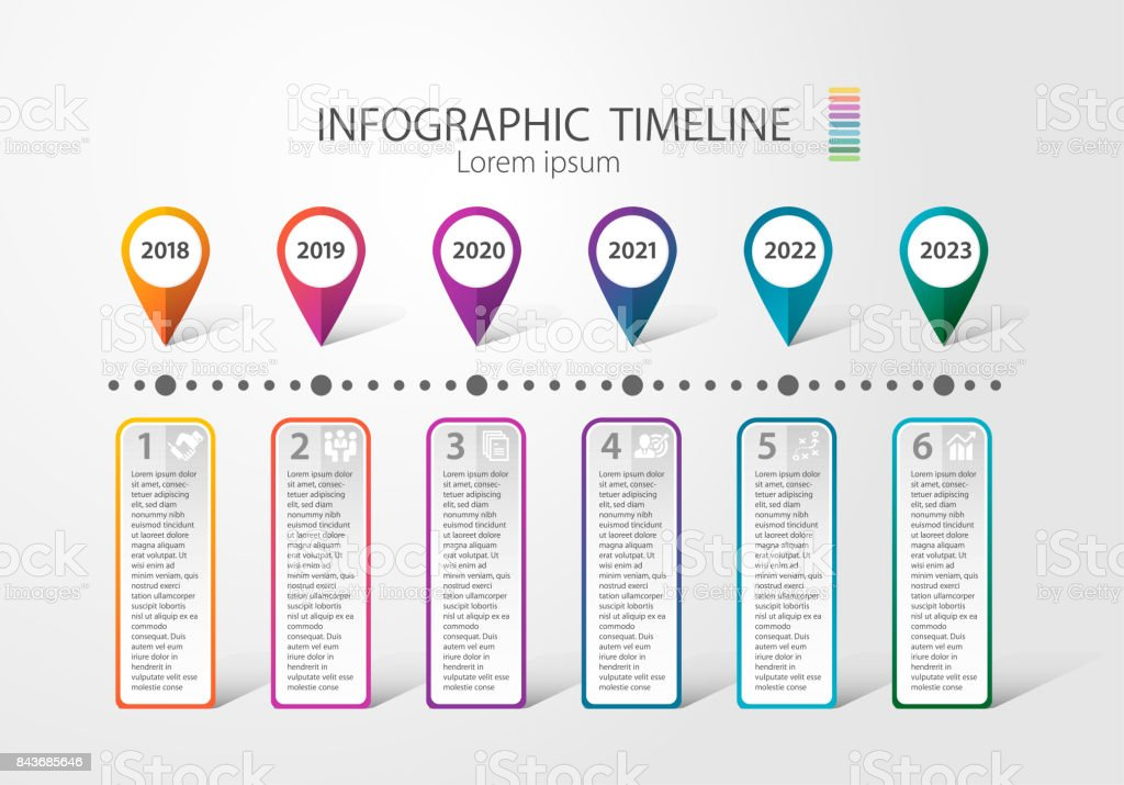 Infographic timeline for multiple purpose of use. Such as Business, plan, processes, step. Quartery stock photo