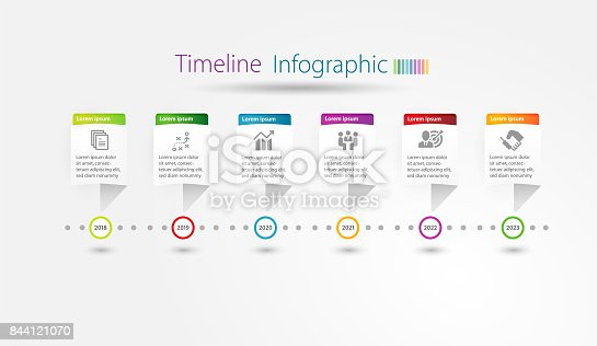 istock Infographic Timeline template for multipurpose of use. 844121070