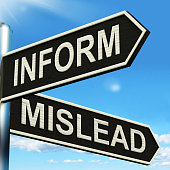 istock Inform Mislead Signpost Means Advise Or Misinform 499280699