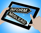 istock Inform Mislead Tablet Means Let Know Or Misguide 516378007