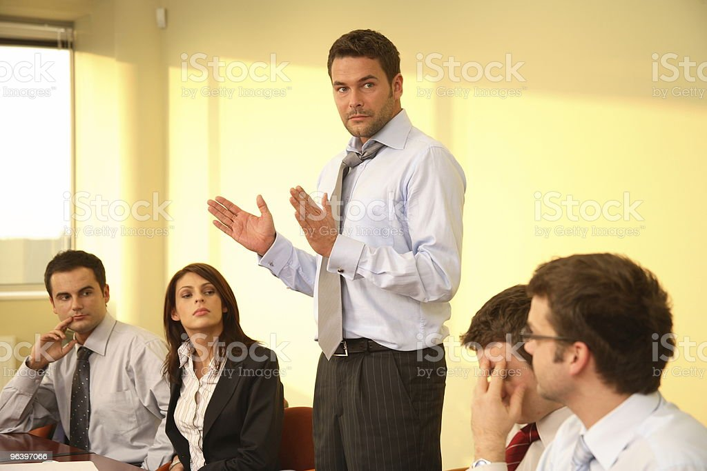 Informal business meeting - boss speech - Royalty-free Adult Stock Photo