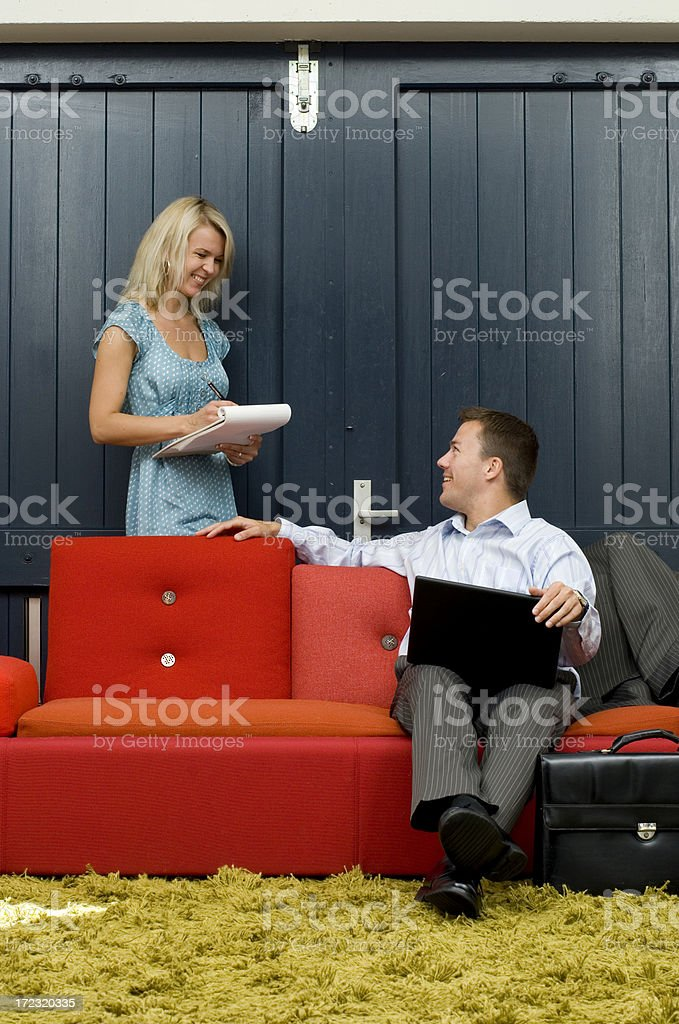 informal business meeting royalty-free stock photo