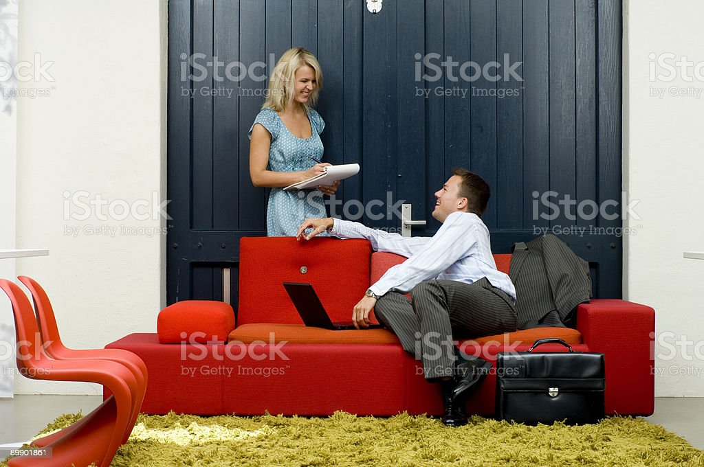 informal business meeting royalty-free stock photo