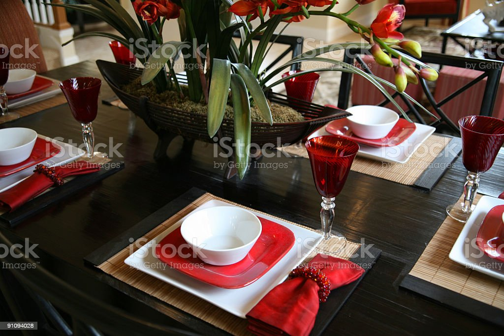 Informal Dining Room Table royalty-free stock photo